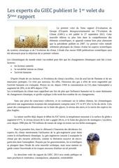 Fichier PDF le giec publie le 1er volet du 5eme rapport