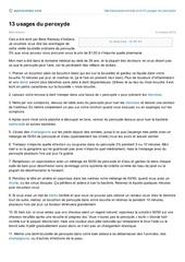 autonomiste com 13 usages du peroxyde