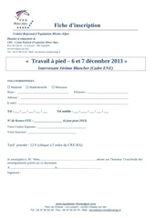 inscription formation travail a pied 2013
