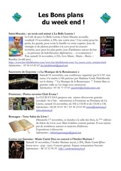 les bons plans du week end semaine n 46 2013