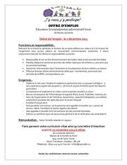 offre d emploi educatrice adjointe administrative