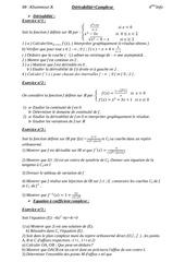 bac info derivabilite complexe 1