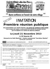 invitation saint clair 2014