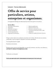 offre de service 2013