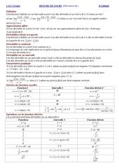 resume derivabilite 4e 1
