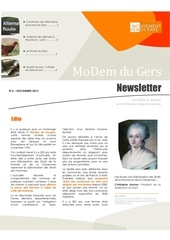 newsletter du modem n 6 nov 2013