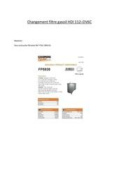 Fichier PDF changement filtre gasoil hdi 112 cv