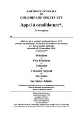 vtt candidature ag 2013