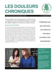 115 fr v les douleurs chroniques 17 au 23 novembre 2013