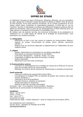 Fichier PDF offre de stage ffse