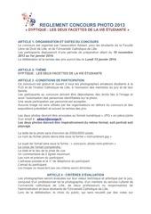 reglement concours photo 2013 1