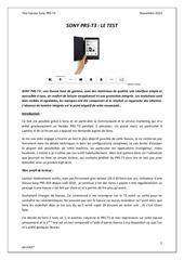 Fichier PDF test sony prs t3