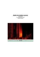 atelier de creation sonore acousrama