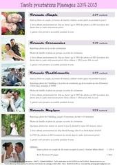 plaquette tarifs mariage 2015