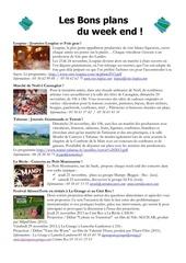 les bons plans du week end semaine n 47 2013