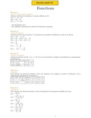 maths fonctions 10 exercices avec correction
