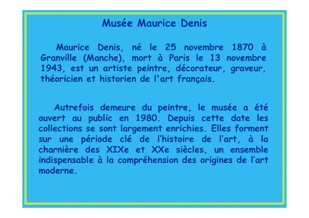 Maurice Denis  Musée Saint Germain en Laye pps par Jean