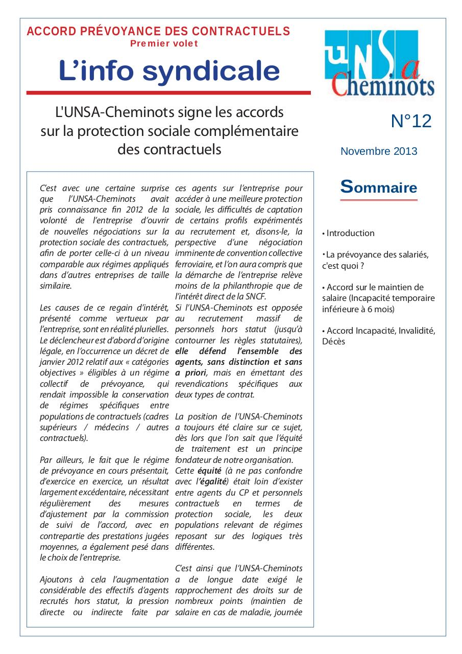Info syndicale n°12 - ACCORDS CONTRACTUELS.pdf - page 1/8