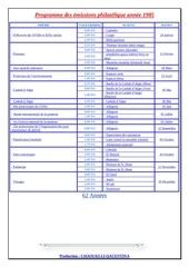programme des emissions philatelique annee 1985