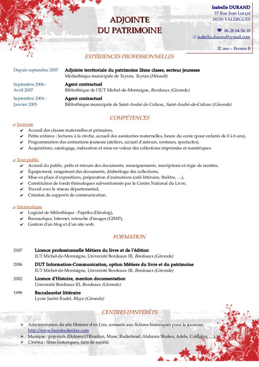 cv-isabelle-durand pdf par benji