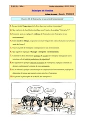 questions principes de gestion chap 2 2013 2014