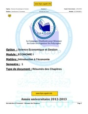 resume du cours d introduction a l economie 1