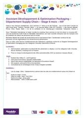assistant developpement optimisation packaging 1