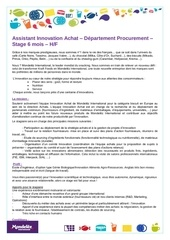 assistant innovation achat