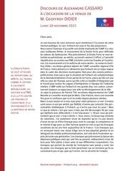 discours du 18 novembre 2013