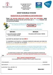 inscription ski 2014