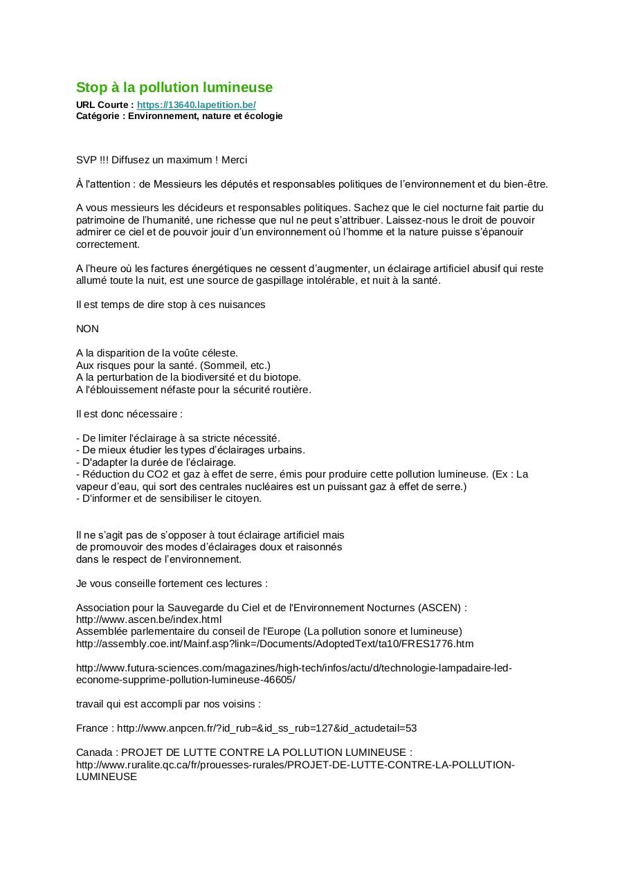 Aperçu du document Stop à la pollution lumineuse.pdf - page 1/1