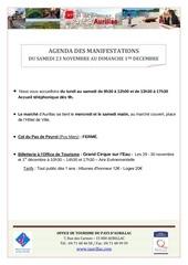 agenda semaine du 23 novembre au 1er decembre 2013