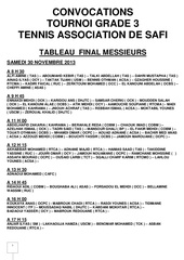 convocations tournoi tas 2eme week end