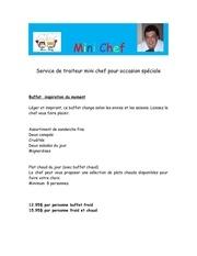 Fichier PDF mini chef buffet