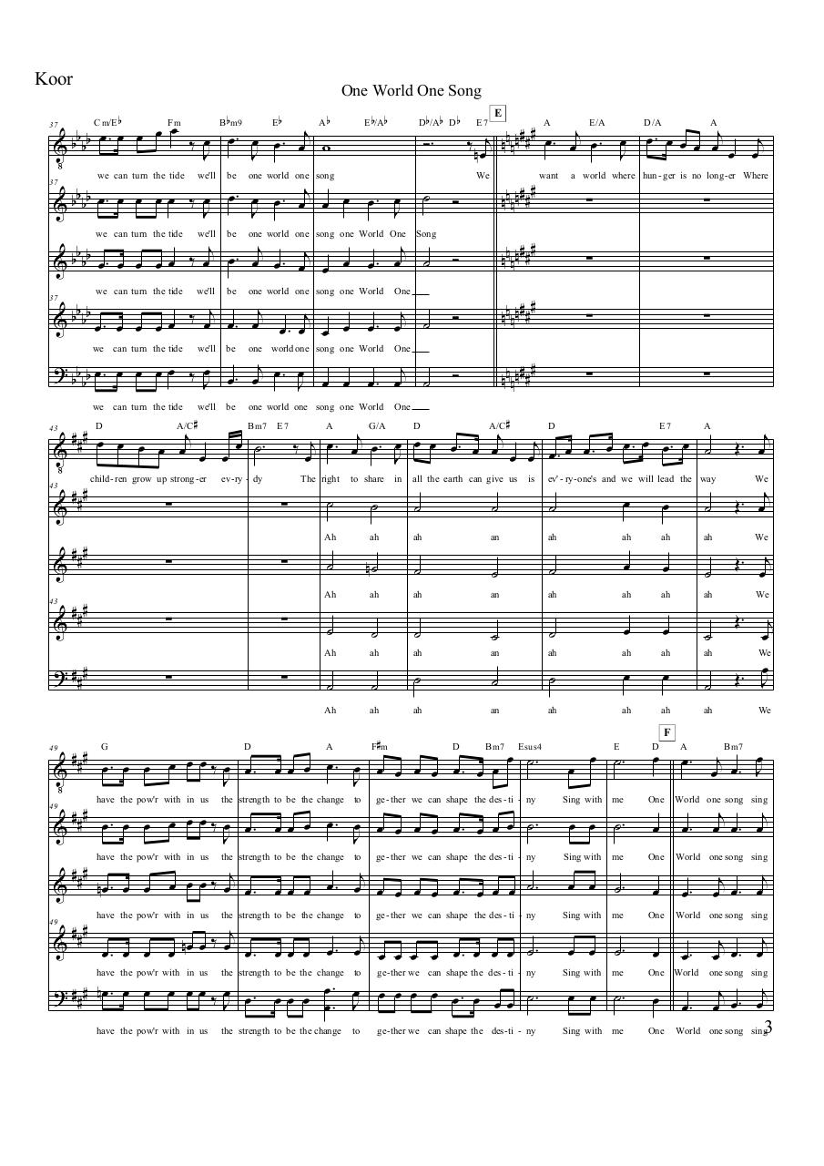 Aperçu du document One World One Song - Koor.pdf - page 3/4