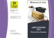 carte traiteur noel 2013
