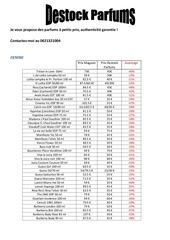 Fichier PDF destock parfums listing