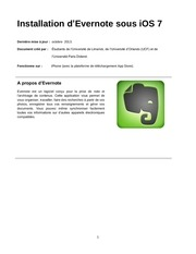 evernote instructions french version