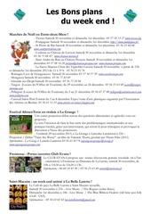 les bons plans du week end semaine n 48 2013