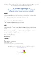 profil charge de developpement marche francais