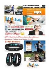 sifit 3 wristband pedometer watch calories counter