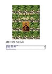 Fichier PDF les evangiles