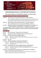 programme patient 3e congres f vs 9
