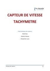 tachymetre physique des capteurs pdf