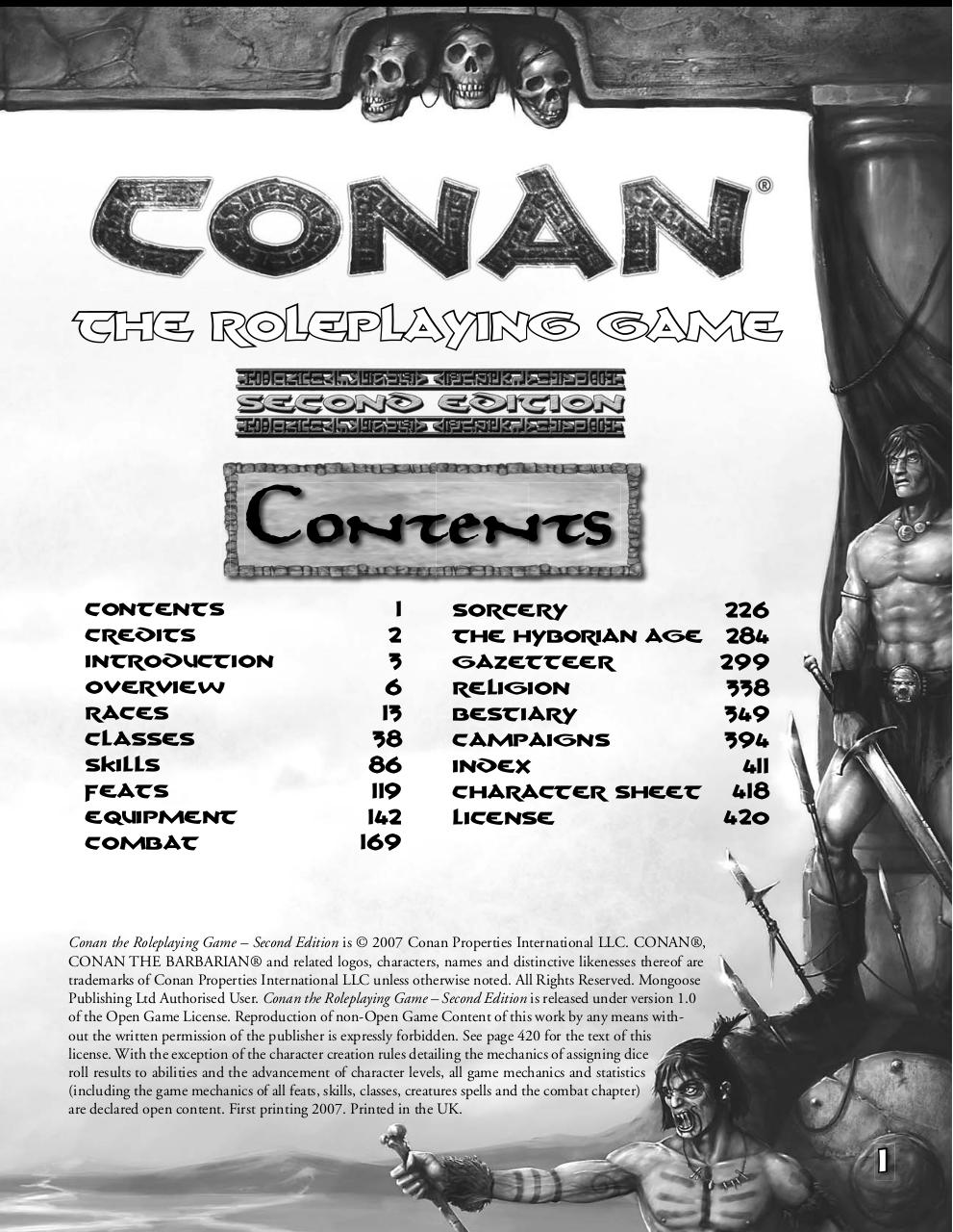 Conan the Roleplaying Games 2nd Edition par Mongoose