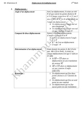 resume deplacement antideplacement bac math