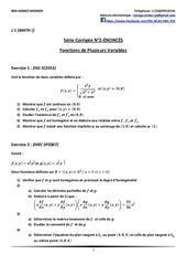 Fichier PDF serie corrigee n 2 fonctions de plusieurs variables