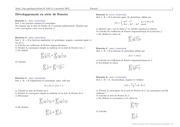 series de fourier developpement en serie de fourier