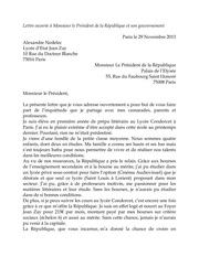 alexandre nedelec lettre ouverte president republique