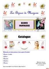 catalogue bijoux marjorie